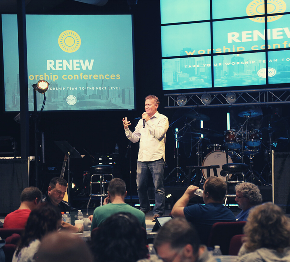 Dwayne teaching at a ReNEW Conference